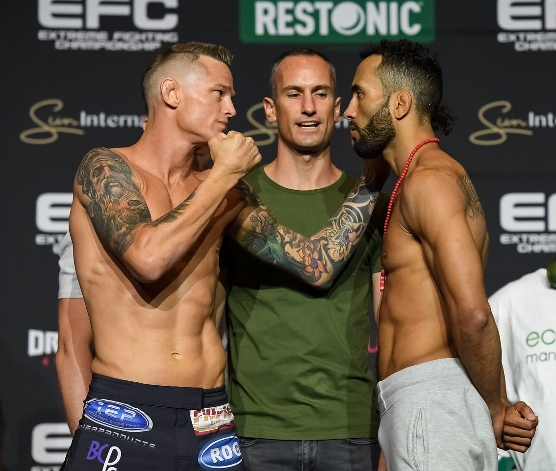 Official EFC77 Weigh In Results: THE Punisher' On Weight & Ready For Cummins