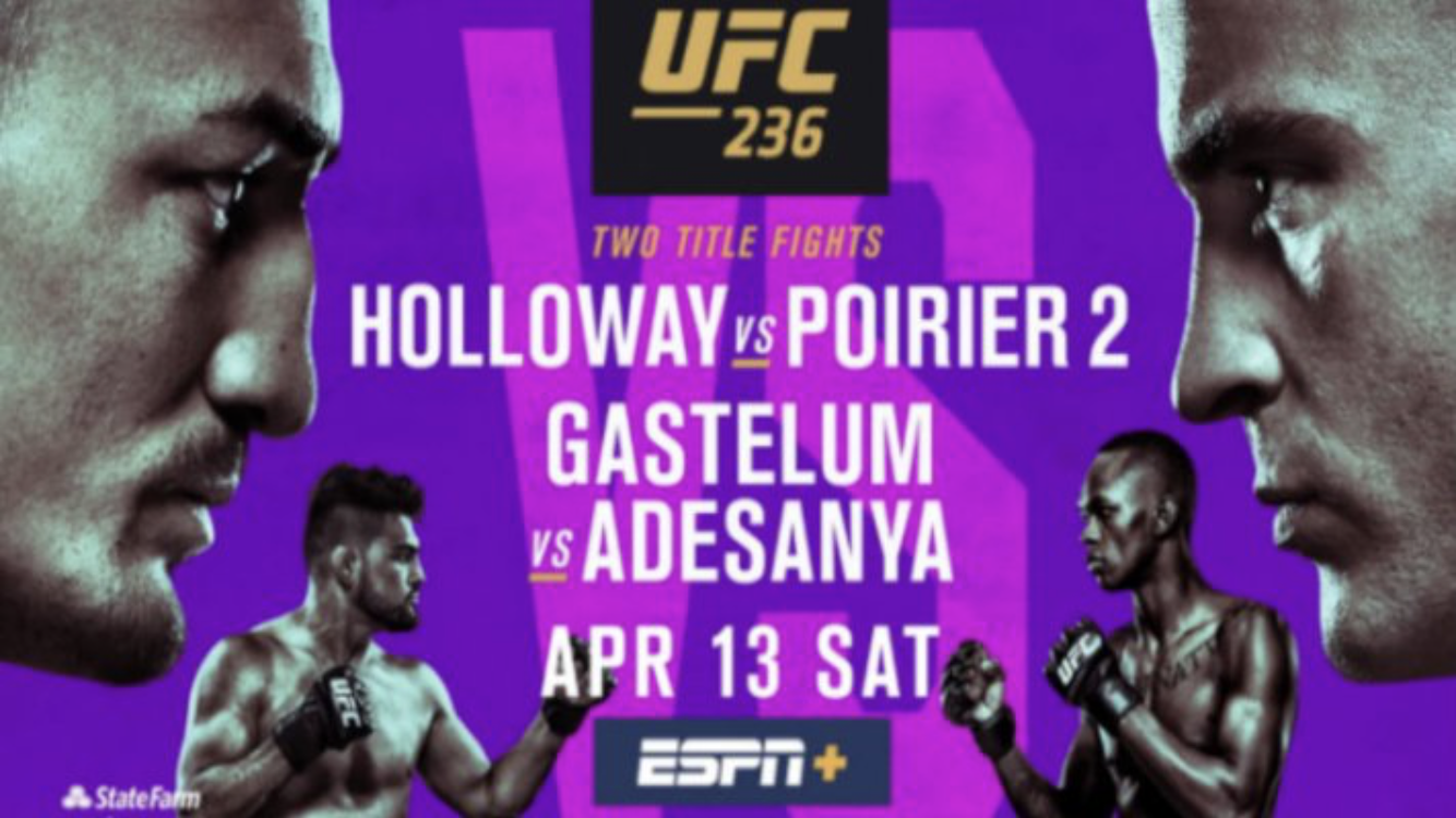 UFC 236: Holloway vs Poirier 2 live results