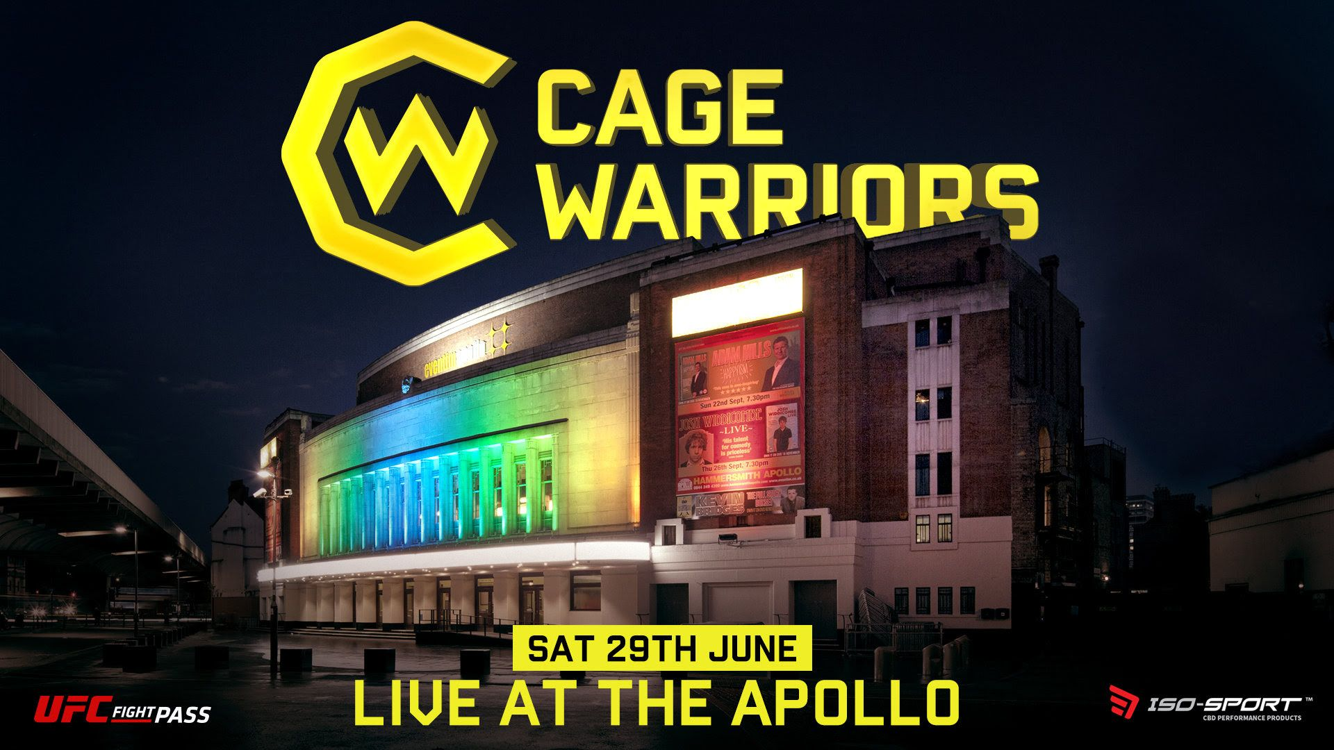 Cage Warriors are going Live at the Apollo!