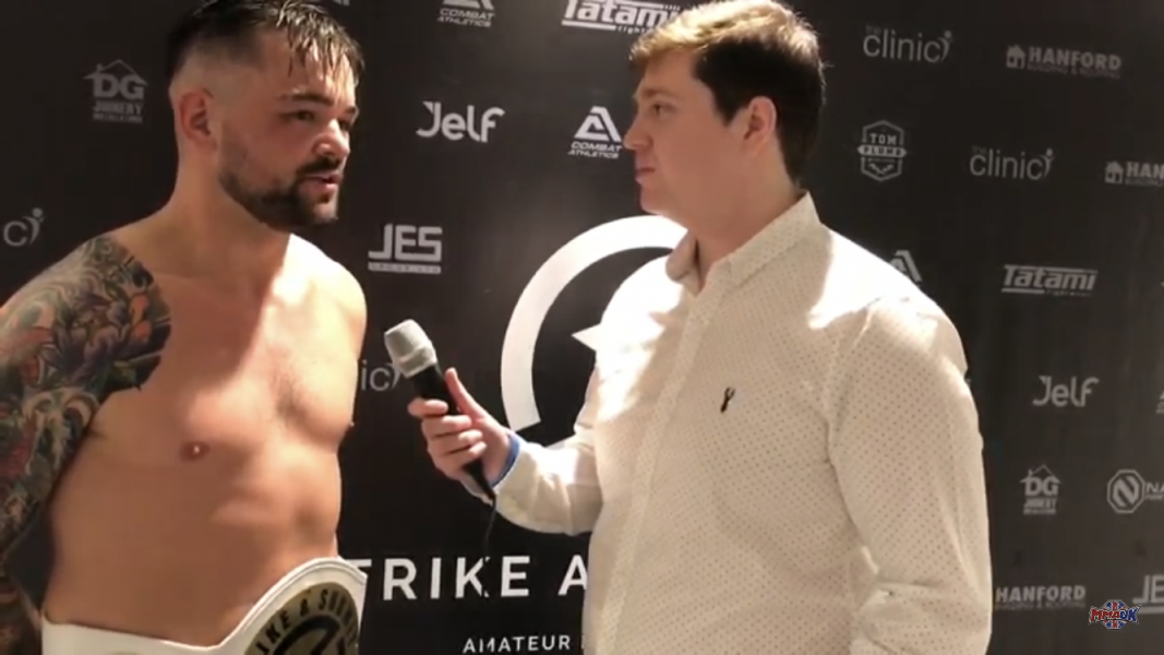 Post fight interview with Strike and Submit Champion Glenn 'The Sledge' Williams