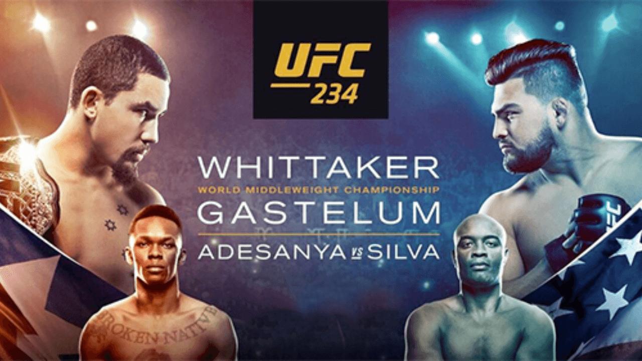 UFC 234: WHITTAKER vs. GASTELUM Live Results