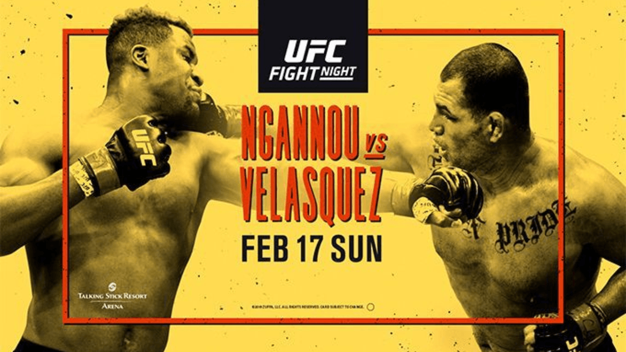 UFC Fight Night: NGANNOU vs VELASQUEZ Results