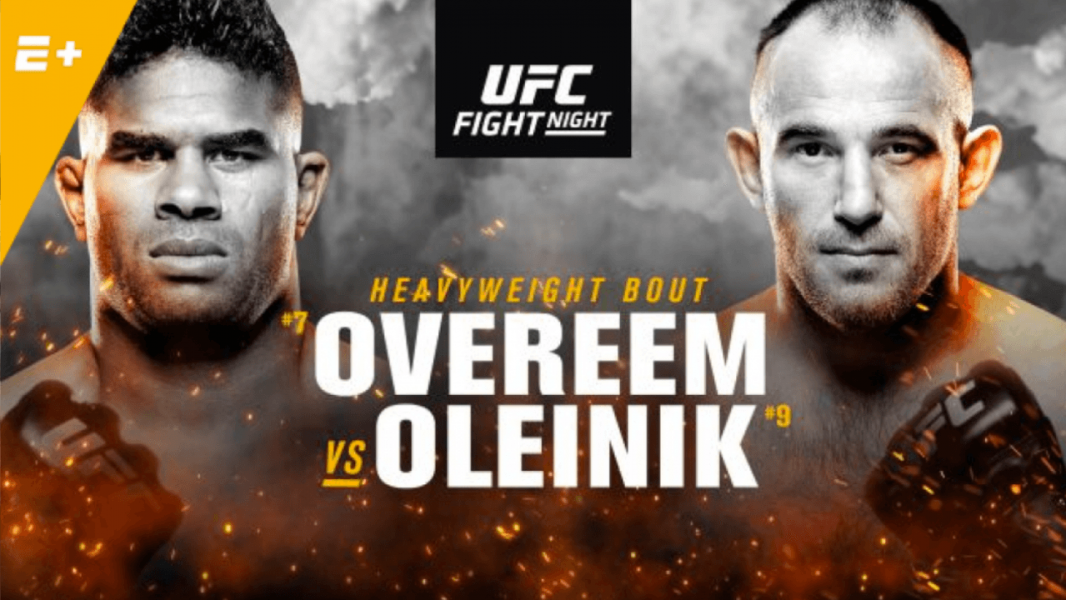 UFC Fight Night: Overeem vs. Oleinik live results