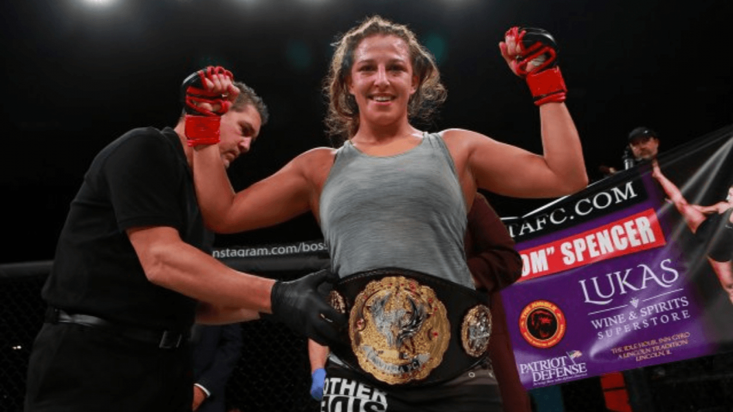 "Invicta featherweight champion Felicia Spencer says ""it feels like a long time coming, but I always knew it could happen at any time"" after signing with UFC"