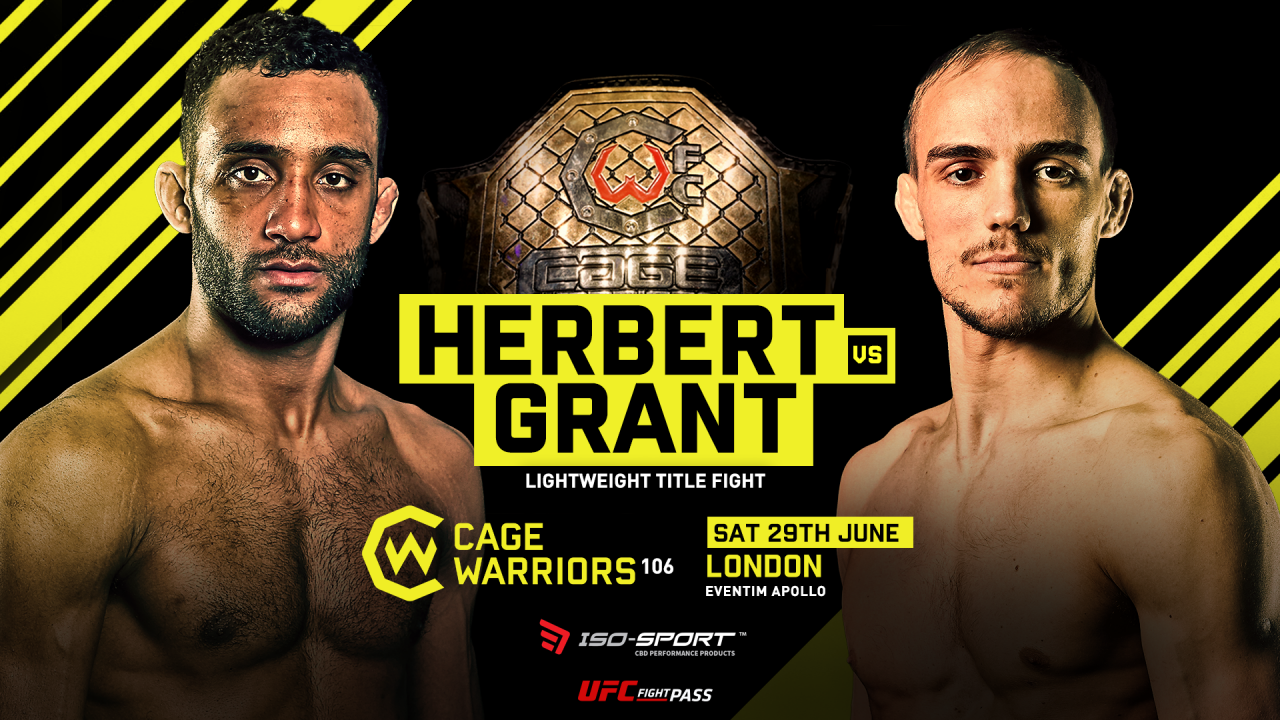Jack Grant vs Jai Herbert for the lightweight title set for CW106